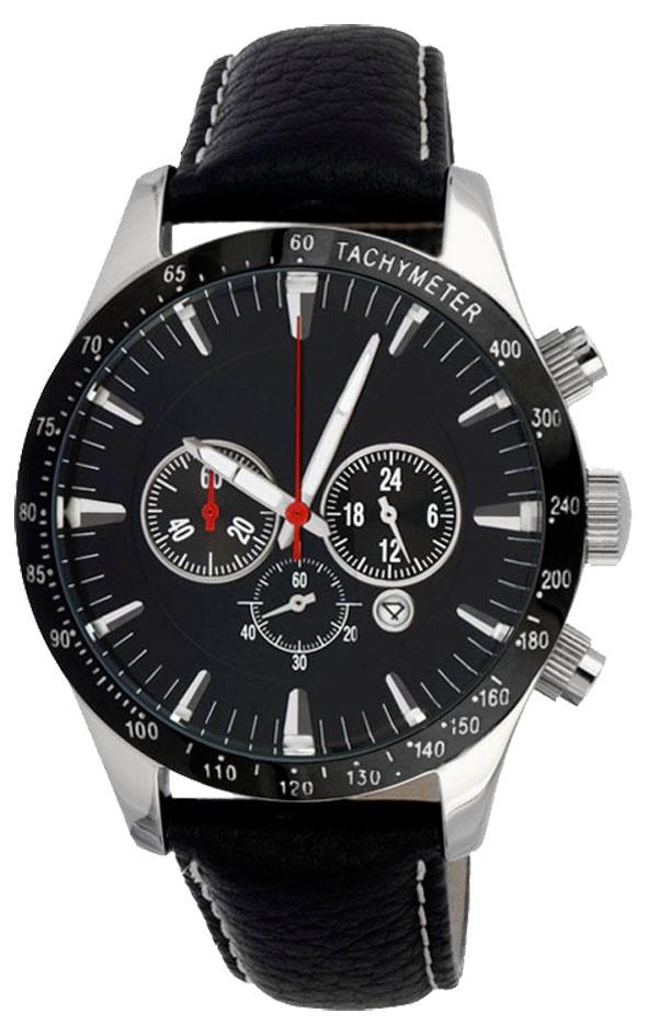 Chronograaf herenhorloge Black Arrow zwart