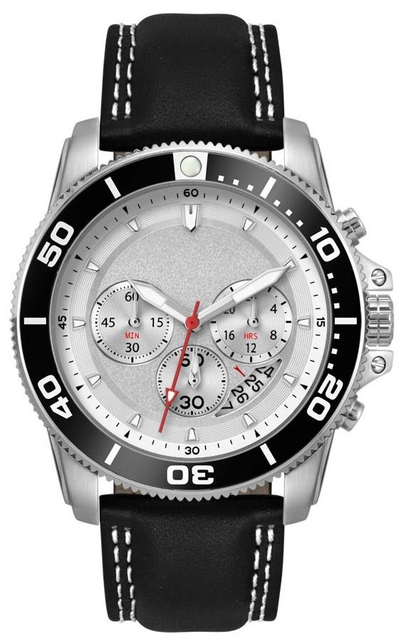 Chronograaf herenhorloge Darwin zilver