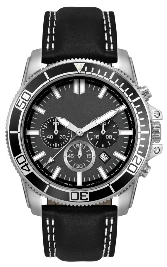 Chronograaf herenhorloge Darwin zwart