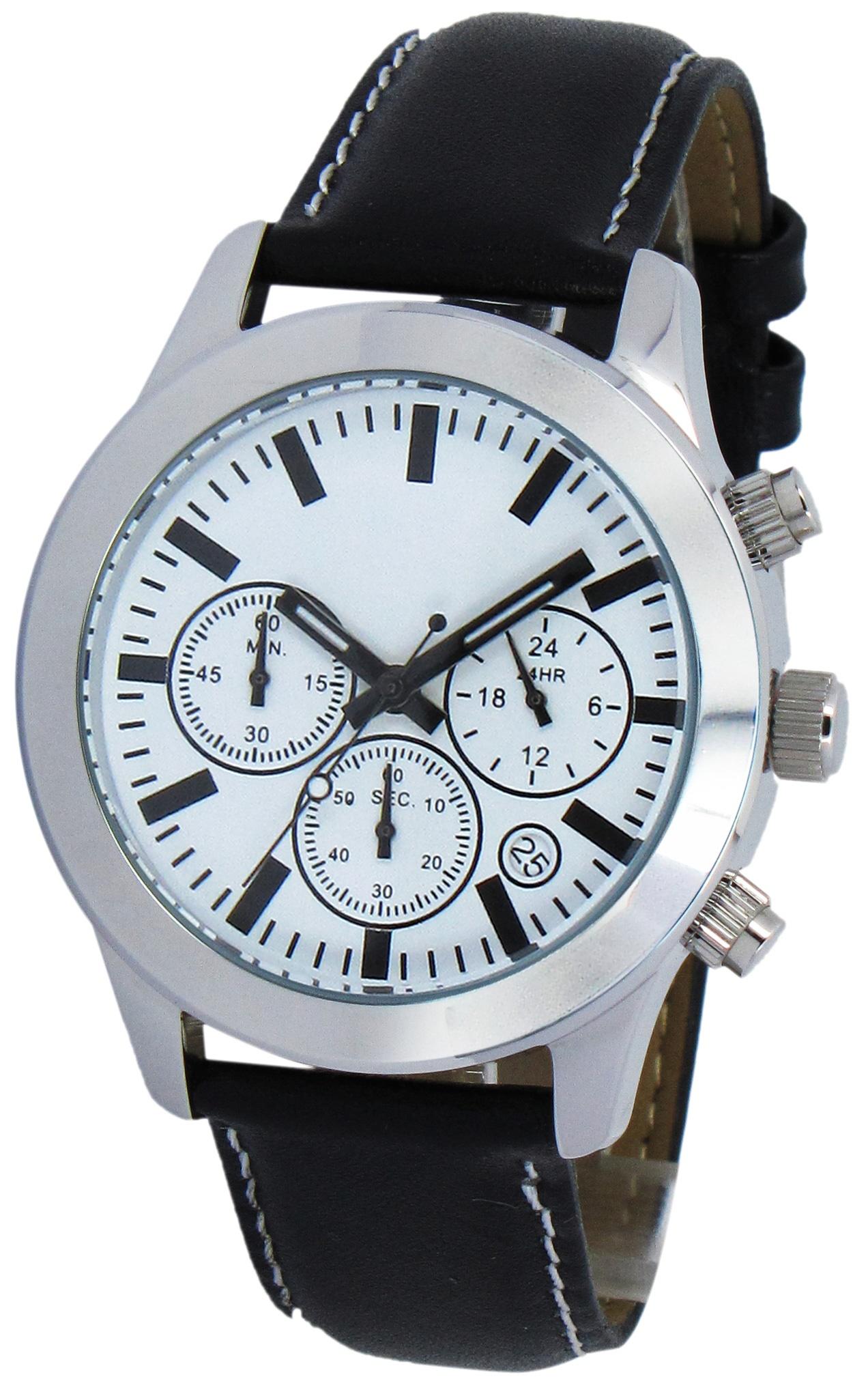 Chronograaf herenhorloge Hobart wit