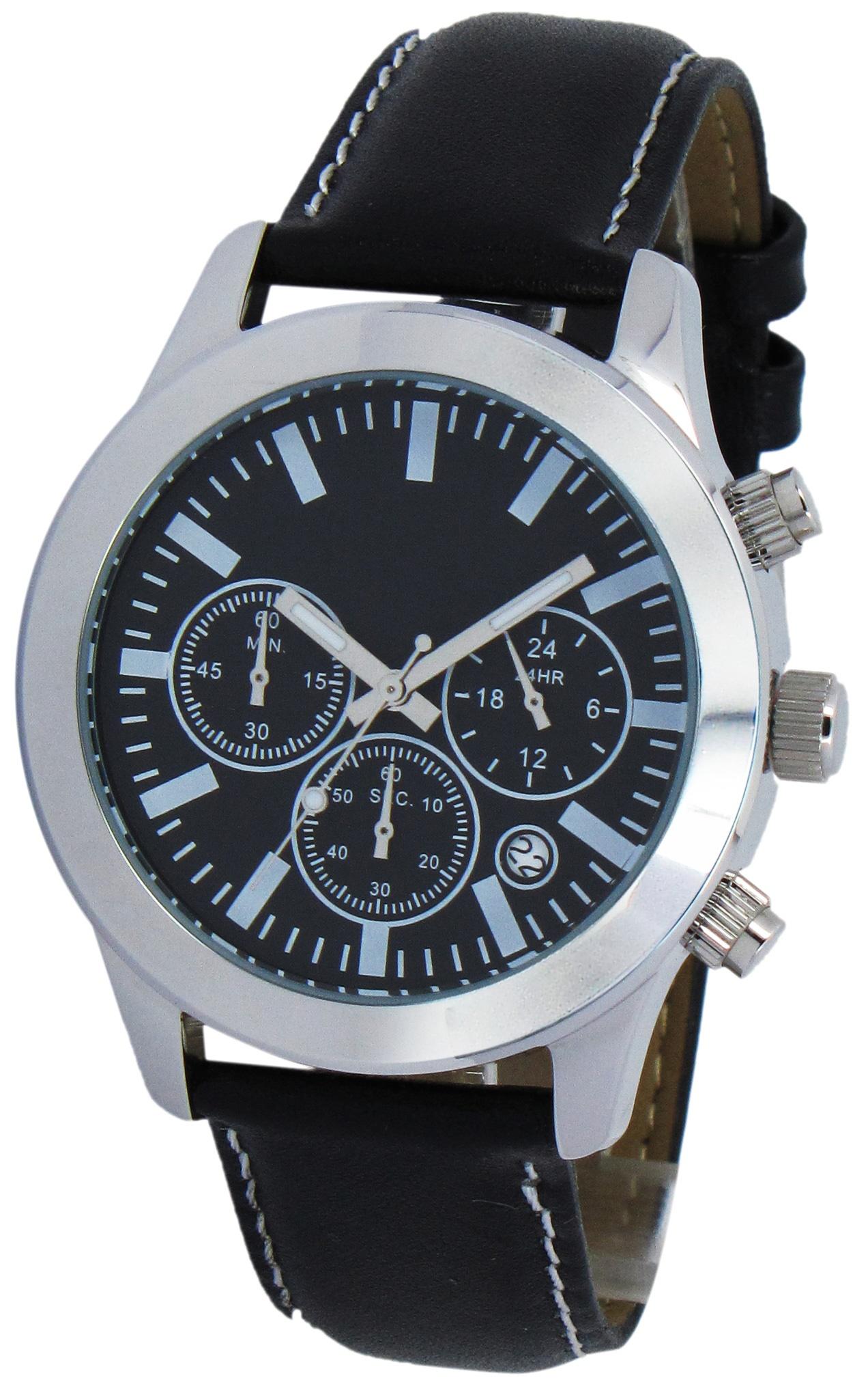 Chronograaf herenhorloge Hobart zwart
