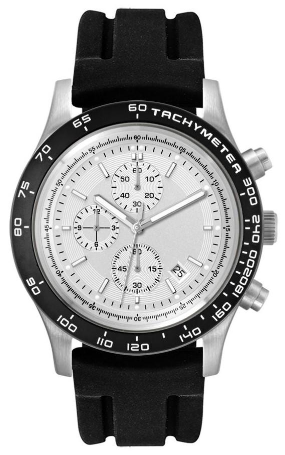 Chronograaf herenhorloge Melbourne zilver