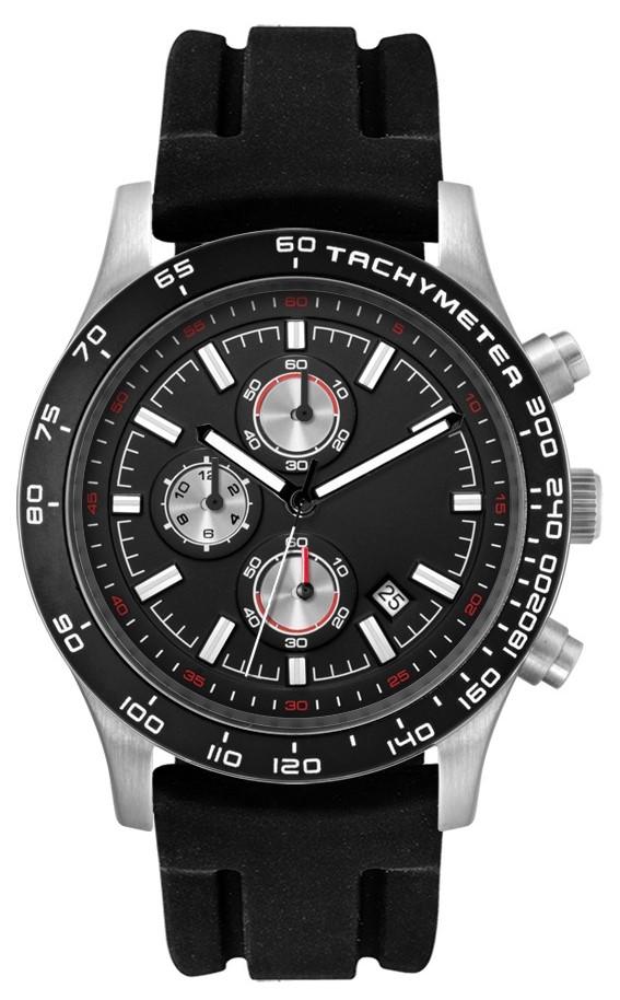 Chronograaf herenhorloge Melbourne zwart