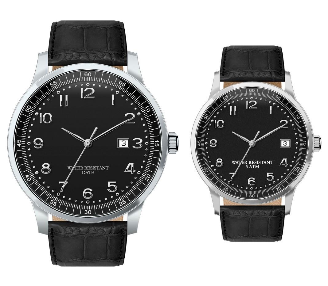 Discovery dames- en herenhorloge zwart