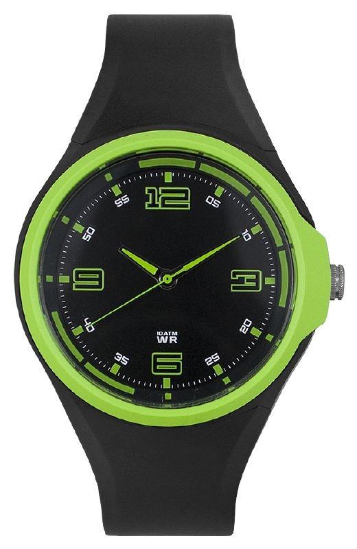 Spike herenhorloge zwart-groen