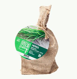 Plantpakketje Bieslook (jute)