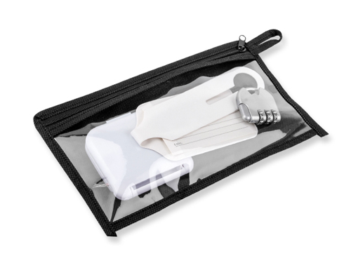 travel set in a case