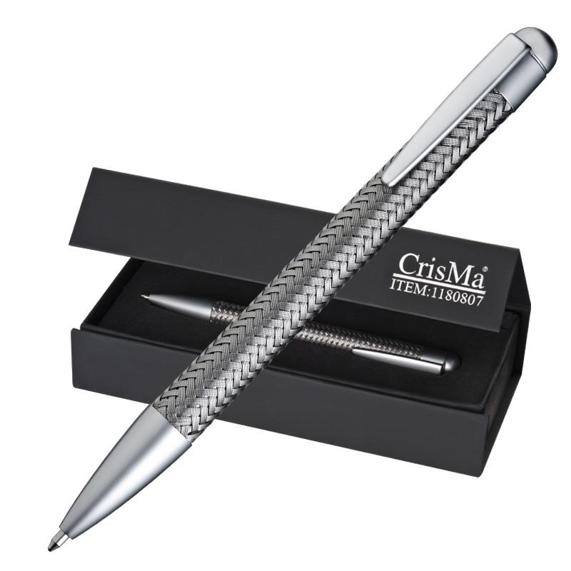 Luxe metalen schrijfset