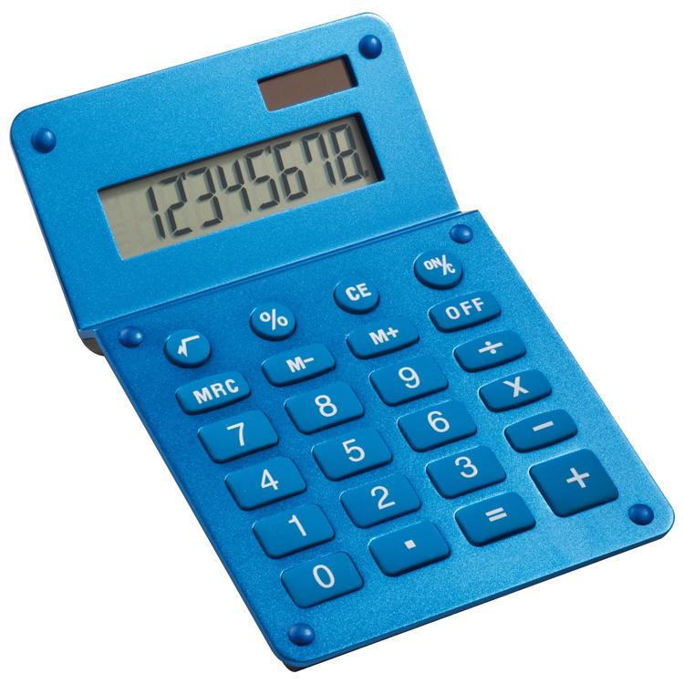 Aluminium dual-power calculator