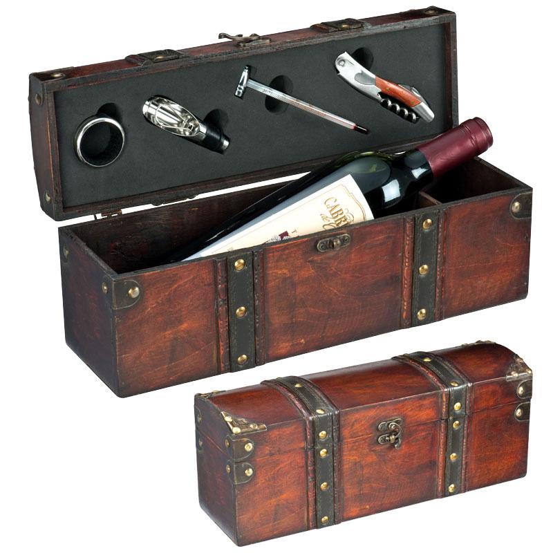 Wijn- schatkist voor 1 wijnfles