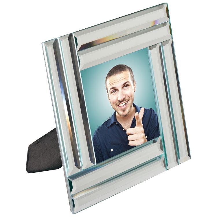 Fotolijstje met spiegellijst voor foto van 10x 10 cm