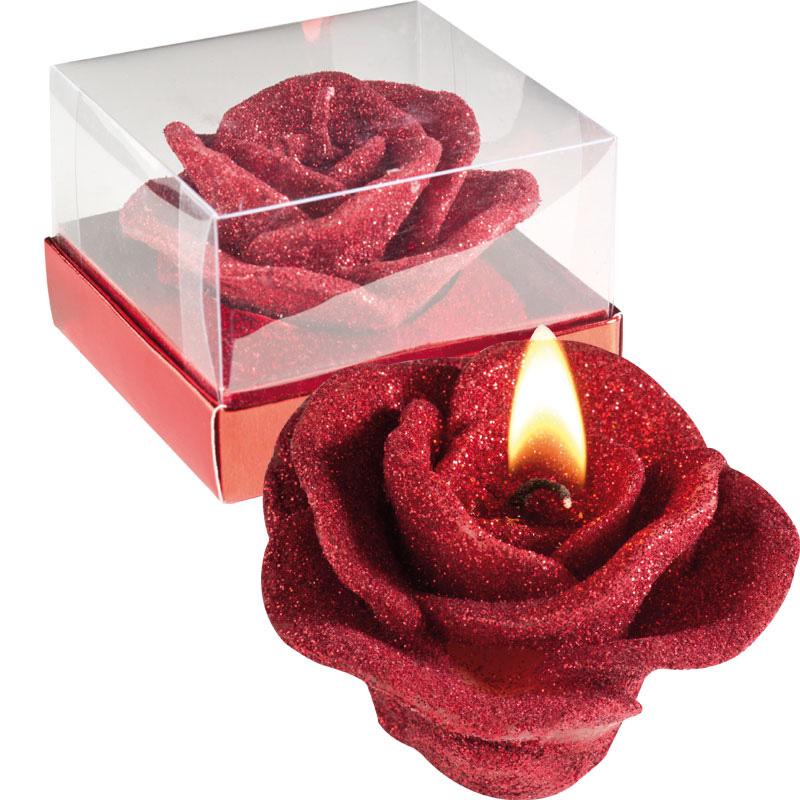 Kaars in de vorm van een roos