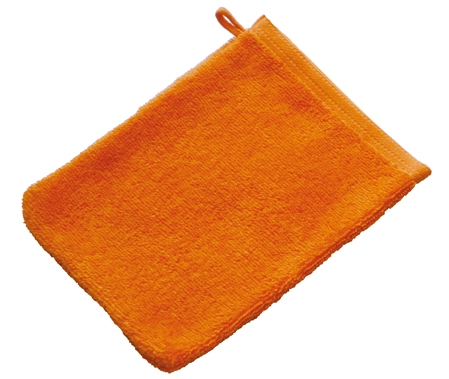 Beaulise Premium washandje 16x21cm. Kleur oranje