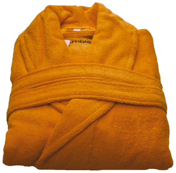 Beaulise Premium Badjas. Kleur oranje S/M