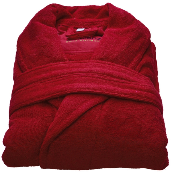 Beaulise Premium Badjas. Kleur rood L/XL
