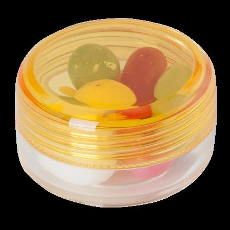 Kunststof rond potje met jelly beans