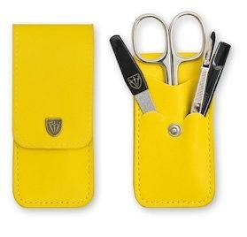 Manicureset geel leder
