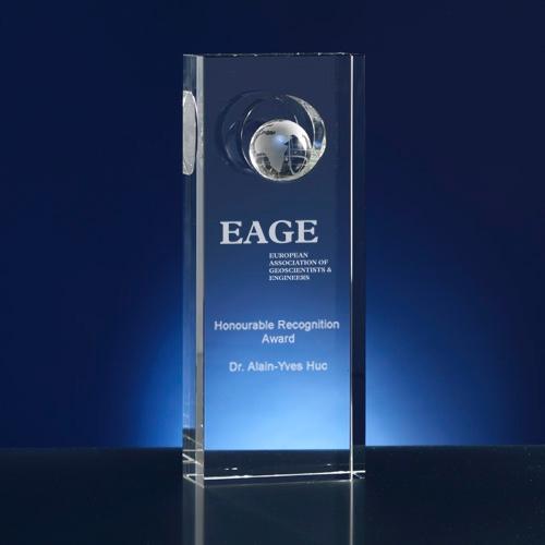 Award rechthoekig; thema wereld