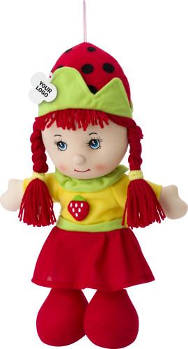 Aardbeienmeisje pop, assorti geleverd