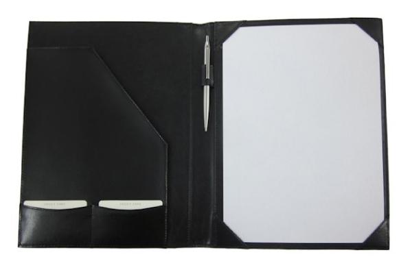Contractenmap A4 zwart bonded leder